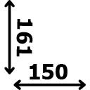 ilgis 150 cm plotis 161 cm