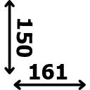 ilgis 161 cm plotis 150 cm