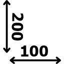 Aukštis 200 cm plotis 100 cm