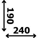 Aukštis 190 cm plotis 240 cm
