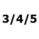 Dydis – 3/4/5