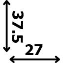 Aukštis 37.5 cm plotis 27 cm