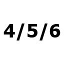 Dydis – 4/5/6