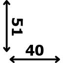 Aukštis 51 cm plotis 40 cm