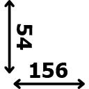 Aukštis 54 cm ilgis 156 cm
