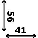 Aukštis 56 cm plotis 41 cm