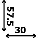 Aukštis 57.5 cm plotis 30 cm