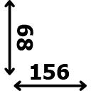 Aukštis 68 cm ilgis 156 cm