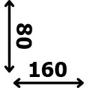 Aukštis 80 cm ilgis 160 cm