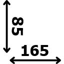 Aukštis 85 cm ilgis 165 cm