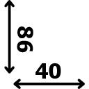 Aukštis 86 cm plotis 40 cm