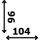 Aukštis 96 cm plotis 104 cm
