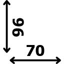 Aukštis 96 cm plotis 70 cm